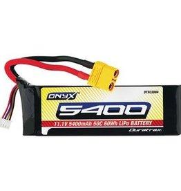 DTX LiPo Onyx 3S 11.1V 5400mAh 50C Soft Case XT90 Nero