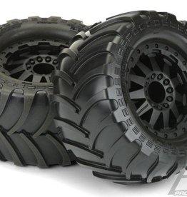 "Proline Destroyer 2.8"" A/T Tires Mounted Black F-11 Rear Wheels"