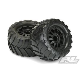 "Proline Destroyer 2.8"" A/T Tires Mounted Black F-11 Rear Wheels"