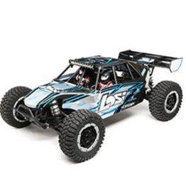 Losi Desert Buggy XL-E:1/5th 4wd Elec RTR gray/blue