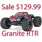 Arrma AR102663 1/10 Granite Voltage 2WD Mega RTR Red/Black