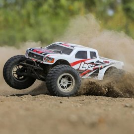 LOS TENACITY Monster Truck, White, AVC: 1/10 4WD RTR