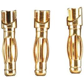 DTX GOLD BULLET CONN MALE 4MM (2)