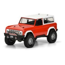 PRO 1973 Ford Bronco Clear Body: 1/10 Rock Crawler