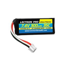 common sense Lectron Pro 7.4V 300mAh 35C Lipo Battery with UMX Connector for the UMX Timber, Beast, Carbon Cub, Blade 130X & mCP X BL