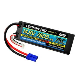 Lectron Pro 14.8V 7600mAh 75C Hard Case Lipo Battery with EC5 Connector