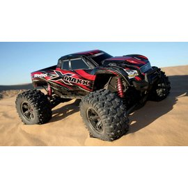 Traxxas 77086-4_RED X-Maxx: Brushless Electric Monster Truck with TQi Traxxas Link Enabled 2.4GHz Radio System & Traxxas Stability Management (TSM)