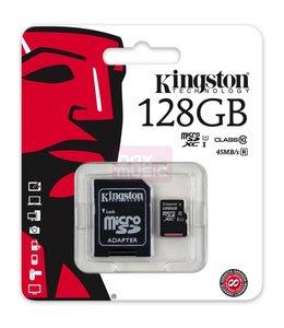 Carte Memoire 128 Go Micro Sd avec Adapteur SD Classe 10 Kingston