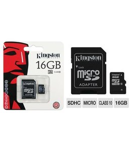 Carte Mémoire 16 Go Kingston MicroSD avec Adapteur SD
