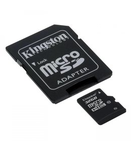 Carte Mémoire 32 Go Micro Sd avec Adapteur SD Classe 10 Kingston