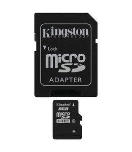 Carte Memoire 8Go MicroSD Kingston avec Adaptateur SD