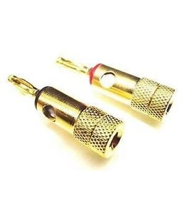 Banana Plugs Gold Plated 2PA