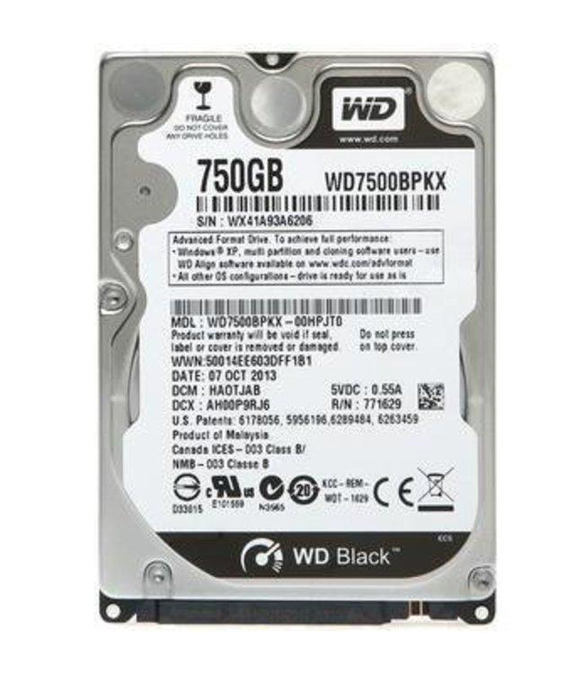 """Disque Dur 750Go 2,5"""" Western Digital Black"""