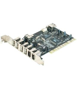 Carte controleur USB 2.0 4 ports / FireWire 400 2 ports PCI PowerData