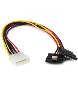Cable molex a double sata 12 pouces