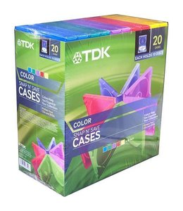 Ensemble de boitier de CD/DVD TDK Snap n' Save