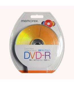 DVD-R Memorex 25 Pcs Couleur