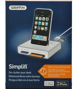 Station d'accueil avec USB et lecteur de cartes Griffin Simplifi