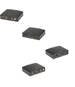Convertisseur VGA/F vers HDMI/F avec audio RCA