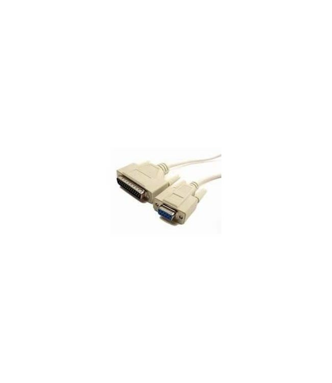 cable DB9F/DB25M 6ft