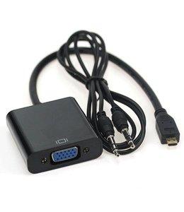 Adaptateur micro HDMI vers VGA avec audio