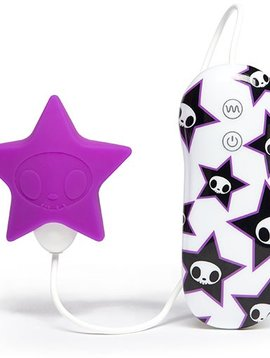 Tokidoki Tokidoki 10 Function Silicone Clitoral Vibrator - Star - Purple