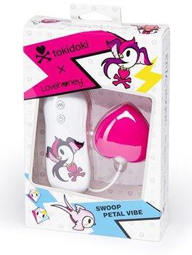 Tokidoki Tokidoki 10 Function Silicone Clitoral Vibrator - Swoop - Pink