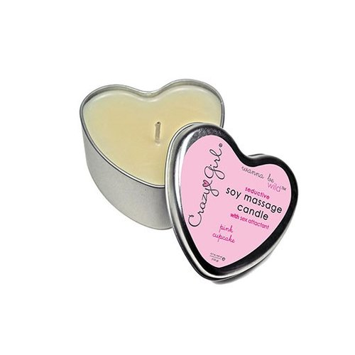 Crazy Girl Crazy Girl Wanna Be Wild Seductive Soy Massage Candle - Pink Cupcake