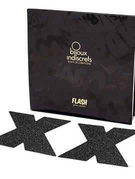 Bijoux Indiscrets Bijoux Indiscrets Flash Pasties - Cross Black