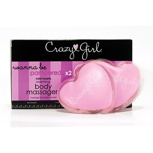 Crazy Girl Crazy Girl Mini Warming Hearts Massager Set