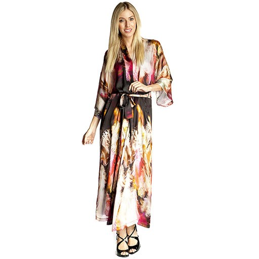 Christine Long Silk Robe