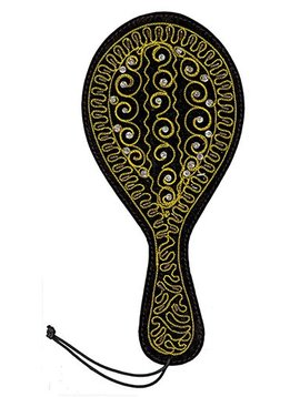 Ruff Doggie Styles Ruff Doggie Styles Spank-HER Jeweled Leather Paddle Gold
