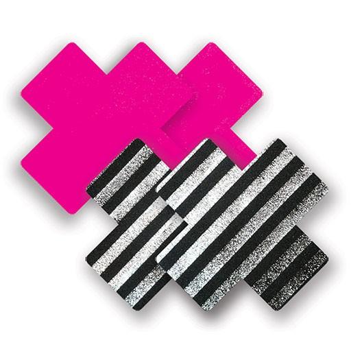 Bristols 6 Bristols 6 Nippies - Sex Pistol Cross (Pink/Blk/Wht) A/B