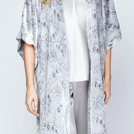 Christine Burned Velvet Kimono
