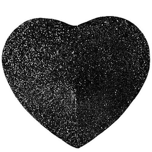 Hauty Hauty Glitter Heart Pasties - Black