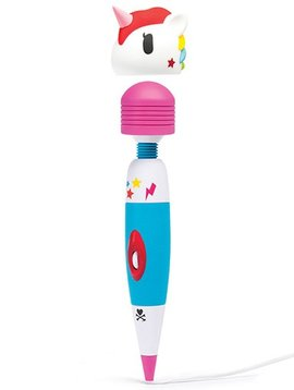 Tokidoki Tokidoki Multispeed Unicorn Massage Wand Vibrator - White