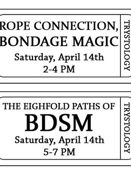 Combined Workshops- Rope and BDSM 4–14-18