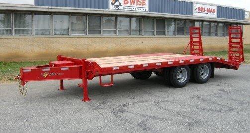 Heavy Duty Tractor Trailer : Bwise edb heavy duty deck over series equipment hauler