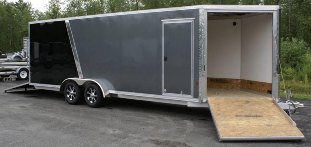 E Z Enclosed Snow Mobile Hauler Trailer Ezes7x22 If