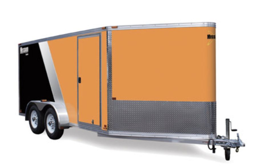 Mission Enclosed Cargo Trailer Mec7x12 If Truck And Trailer World