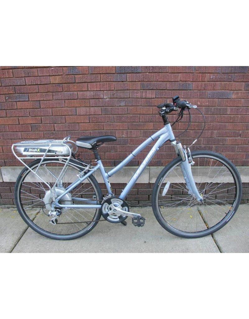 "Marin Bikes Used Marin Bionx San Rafael Hybrid Silver Ebike 15"""