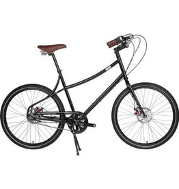 Civia Loring 9 Speed Medium Black Pearl w/ Front Rack, Rear Rack, Bamboo Fenders