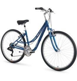 """Torker T510 Bicycle Twin TT 17"""" Step Thru Blue"""