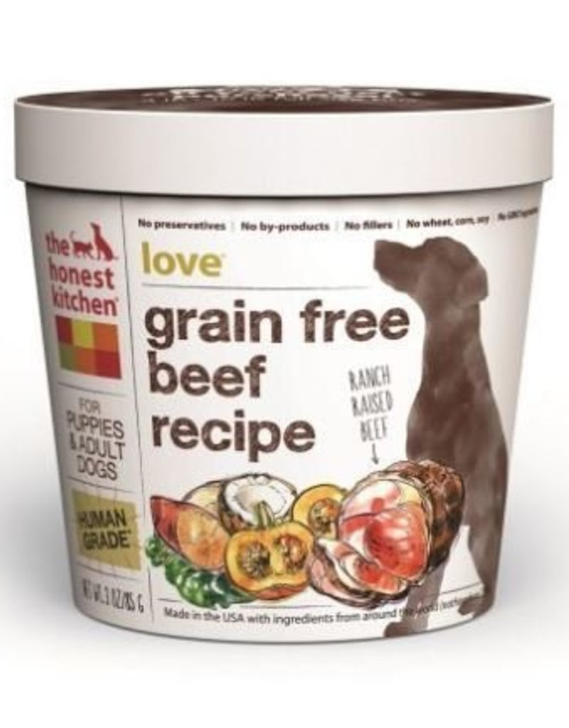 The Honest Kitchen Love: Cup; Beef Formula. Dehydrated Dog Food ...