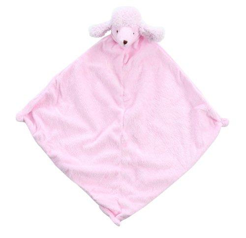 Angel Dear Pink Fuzzy Poodle Blankie