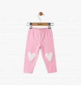 Hatley Pink Glittering Hearts Mini Leggings