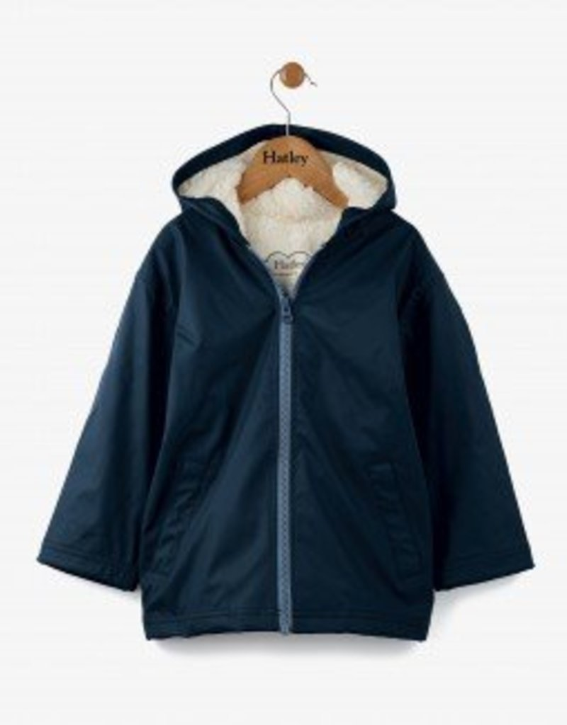 Hatley Classic Navy Sherpa Splash Jacket