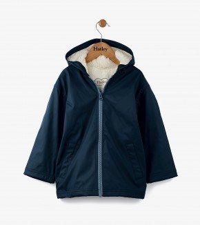 Hatley Classic Navy Sherpa Splash Jacket