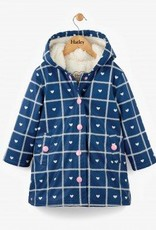 Hatley Crosshatch Hearts Navy Splash Jacket