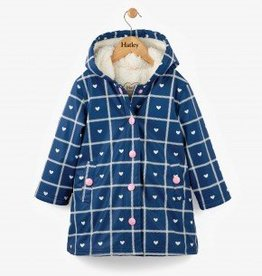 Hatley Crosshatch Hearts Navy Splash Jacket